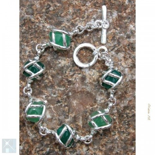 Bracelet argent monture deux couleurs