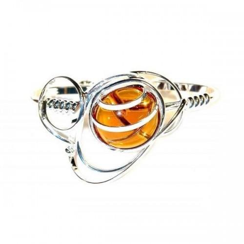 Création originale, bracelet rigide plaqué argent