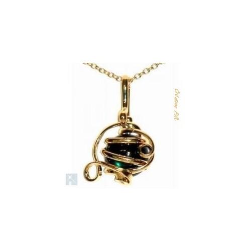 Moderne pendentif déco de créateur, bijou fantaisie fait main