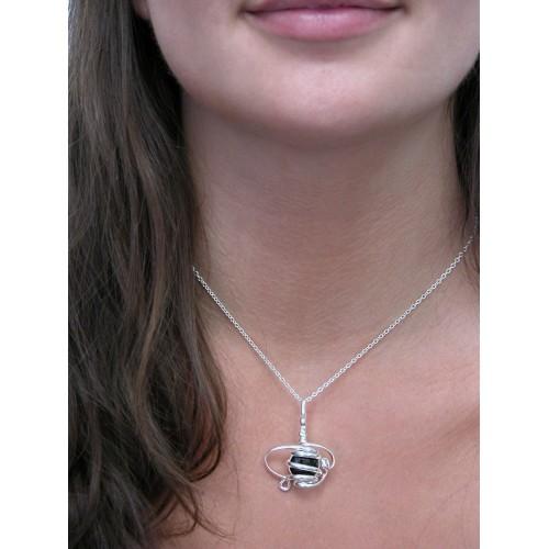Très beau petit pendentif argent, bijou fantaisie fait main