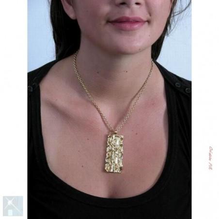 Pendentif doré, création artisanal.