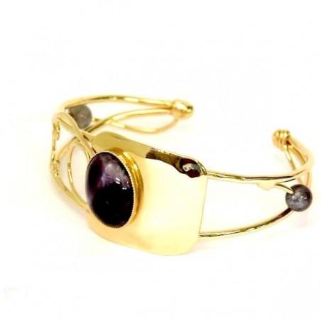 Bracelet unique avec améthyste.