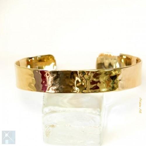 Bracelet martelé plaqué or