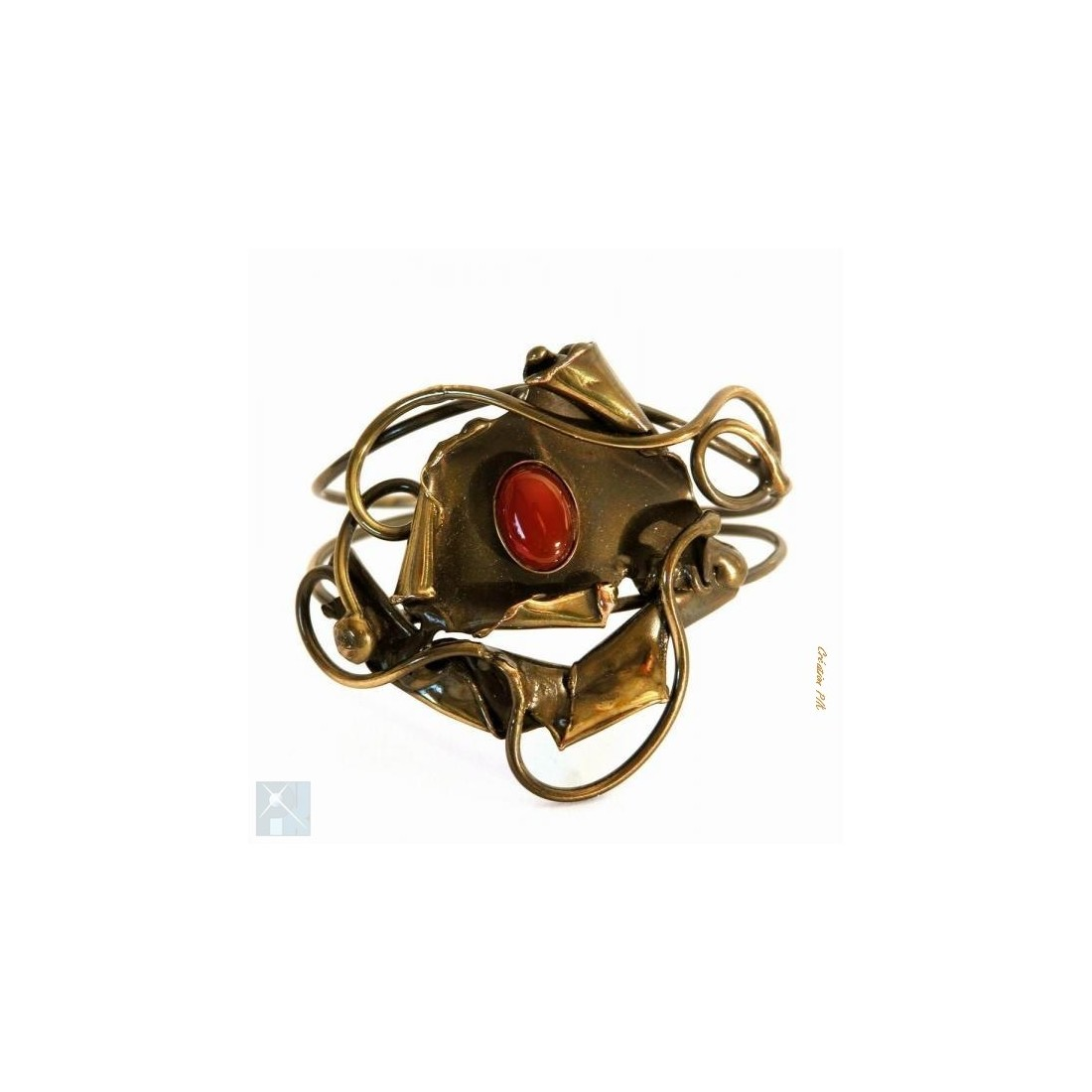 Bracelet baroque, création artisanale.