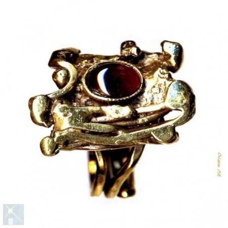 Bague plaqué bronze, création artisanale.