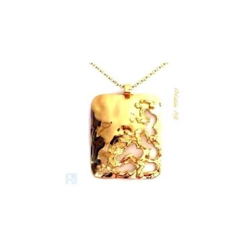 Pendentif fantaisie de couleur dorée