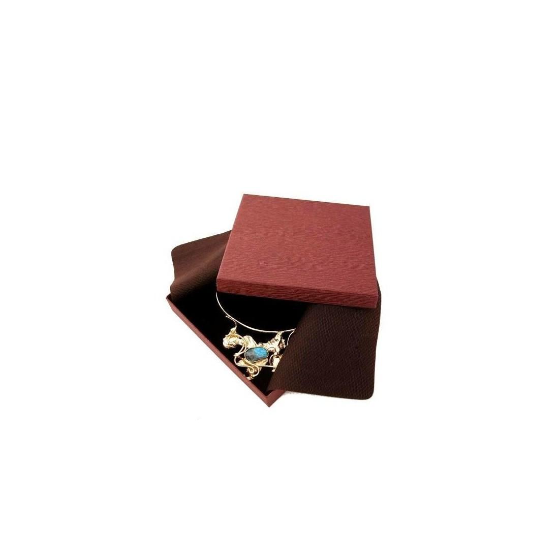 Boite cadeau marron pour collier