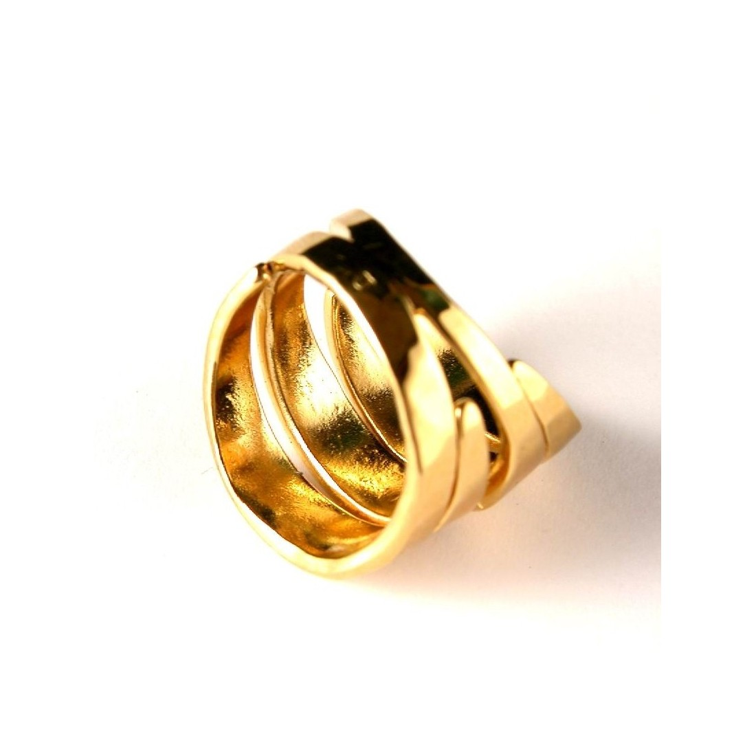 Bague plaquée or, fait main