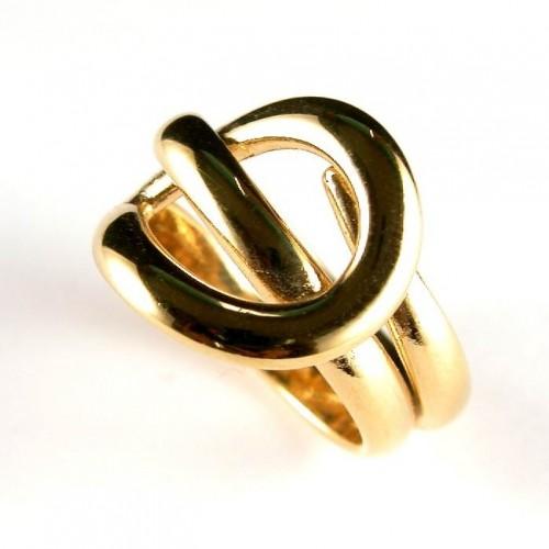 Bague en fil palqué or, bijou de créateur