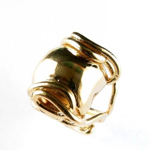 Bague faite artisanalement, bijou plaqué or, création française