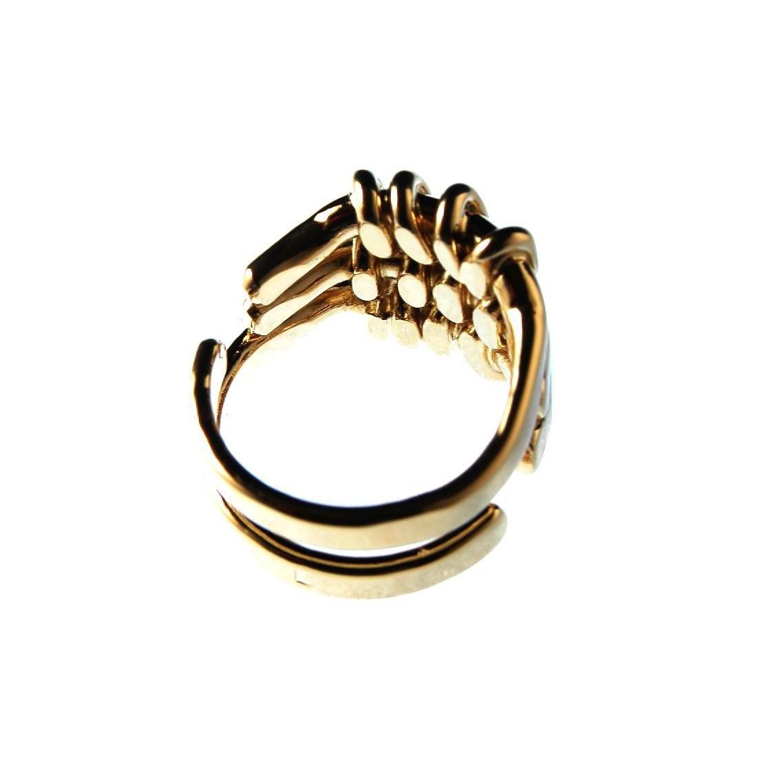 d5ae6f3a5ba78 ... fabriquée en France par artisan d'art · Bague artisanale plaquée or,  création française