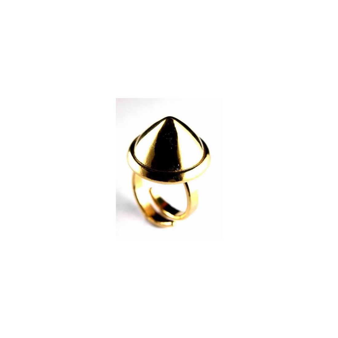 Bague artisanale, plaquée or, création française