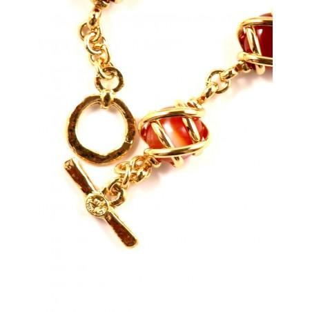 Bracelet doré six pierres véritable couleur unie