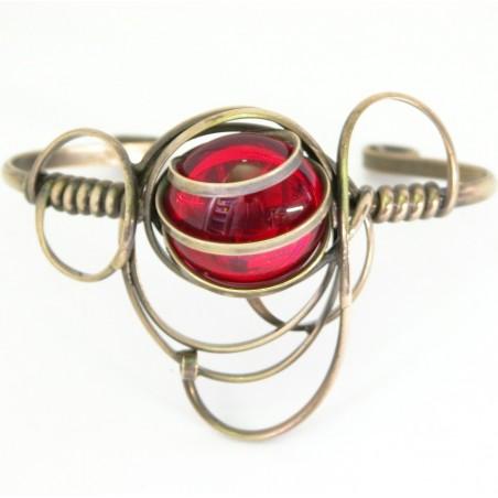 Bracelet rigide fait à la main-bijou fantaisie