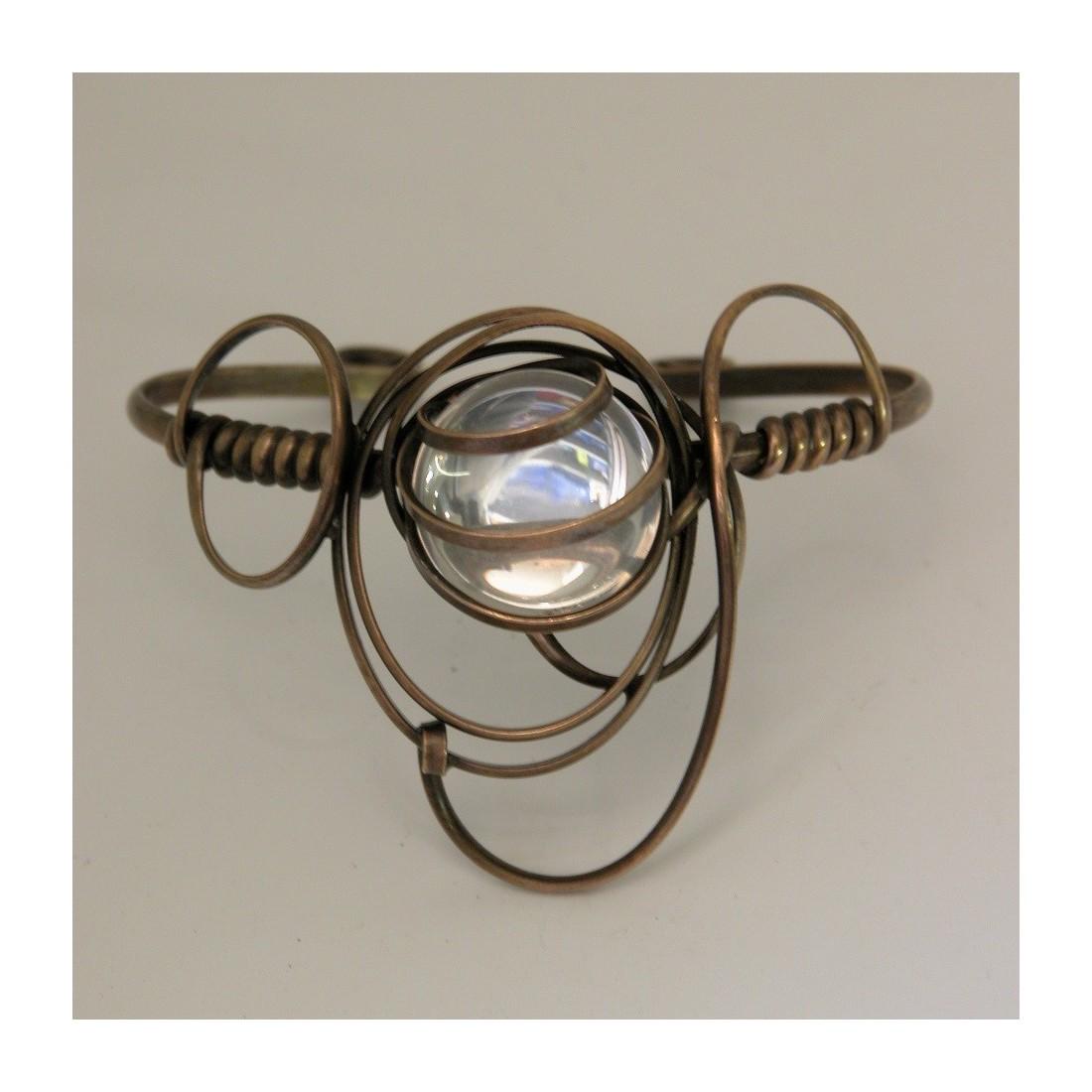 Bijou made in France-bracelet de couleur bronze