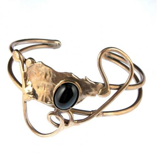 Bracelet de création artisanale avec une pierre véritable