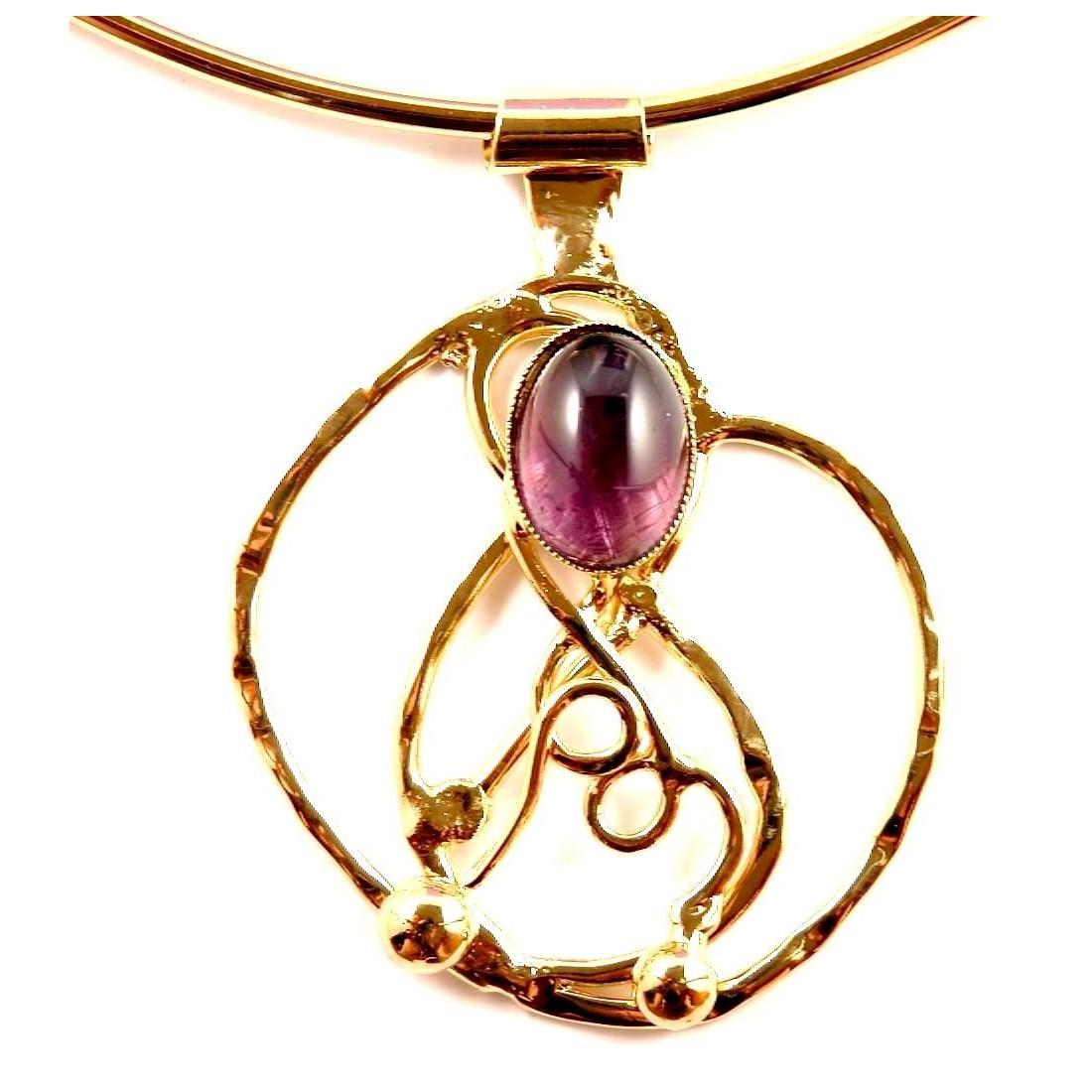 Magnifique collier artisanal avec améthyste
