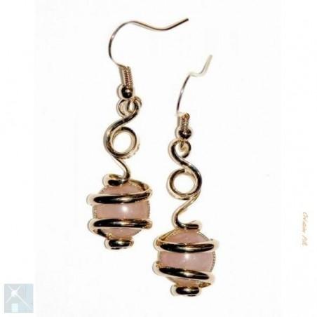 Pierres semi-précieuses dans bijoux pour oreilles percées