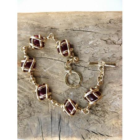 Bijou artisanal pour femme-bracelet fait main