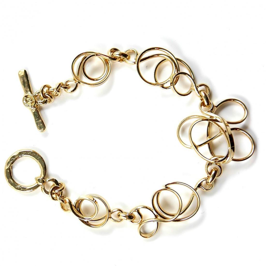 Bracelet fantaisie doré. Bijou fabriqué par Atelier PIK