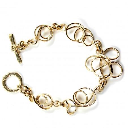 Bracelet doré, pièce unique fabriqué à la main