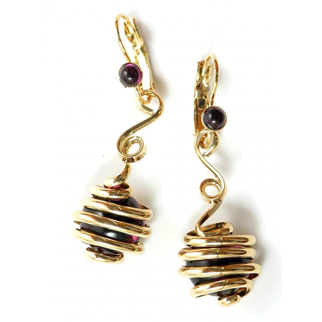 Bijoux artisanaux-créateur français-boucles d'oreilles