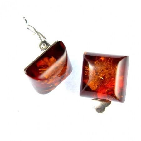 Boucles d'oreilles carrées à clips