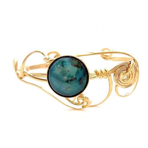 Bijoux en émail-bracelet fantaisie or