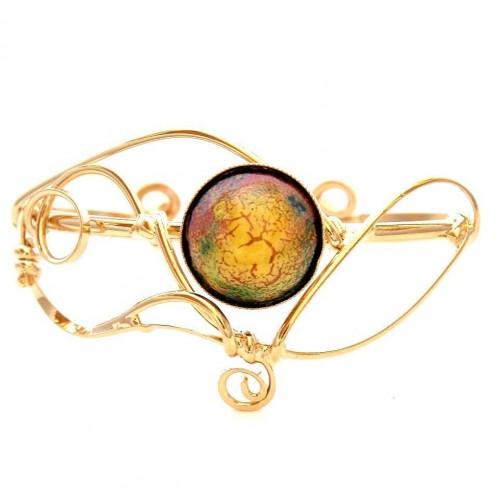 Bijoux d'art-bracelet avec émail, bijoux fantaisies de qualité.