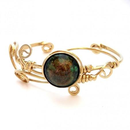 Bracelet artisanal, pièce unique, bijou avec émail