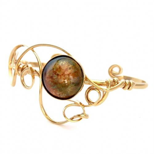 émaux d'art-bracelet unique de créateur bijoutier
