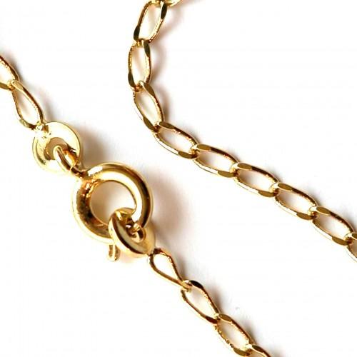Accessoire bijoux-chaîne fine plaquée or pour petits pendentifs.
