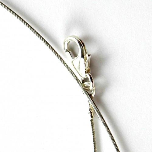 Tour du cou-cable en argent massif-accessoire bijoux