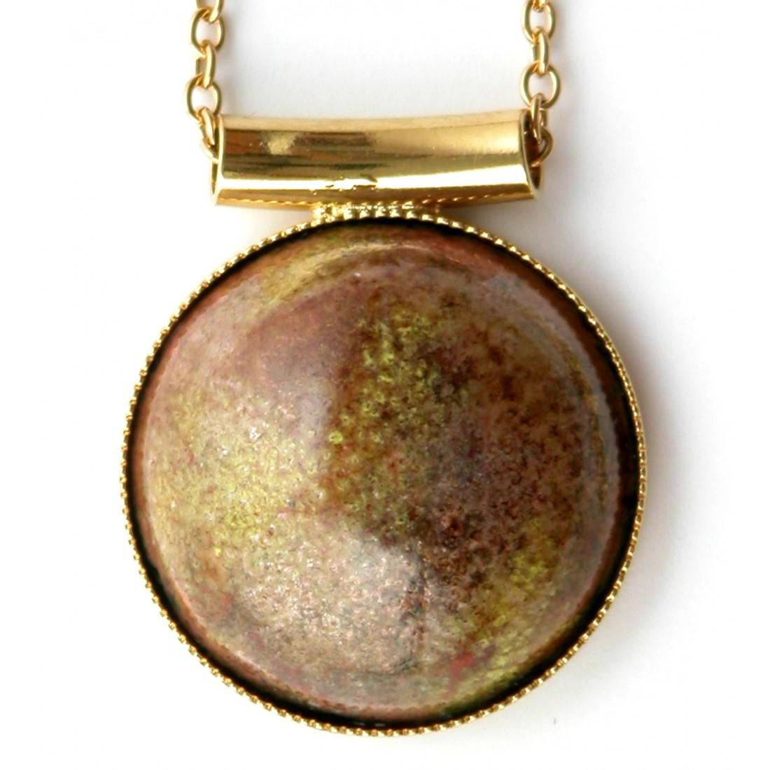 Petit pendentif en émail, bijou d'art, pièce unique