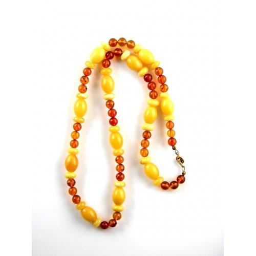 Collier en perles d'ambre véritable, bijou pour femme