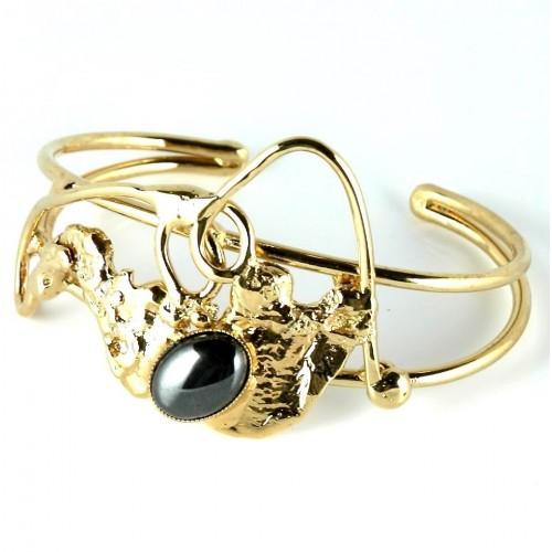 Bracelet avec hématite-bijou unique de créateur français