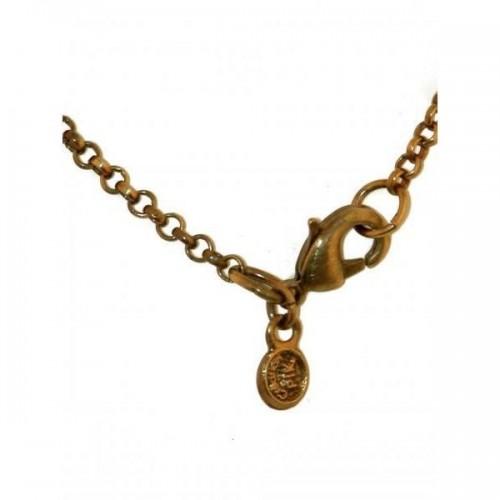 Chaîne courte pour petit pendentif plaqué bronze.