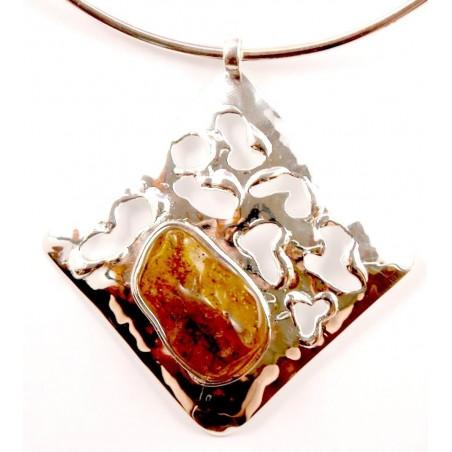 Collier losange argent, bijou imposant et original