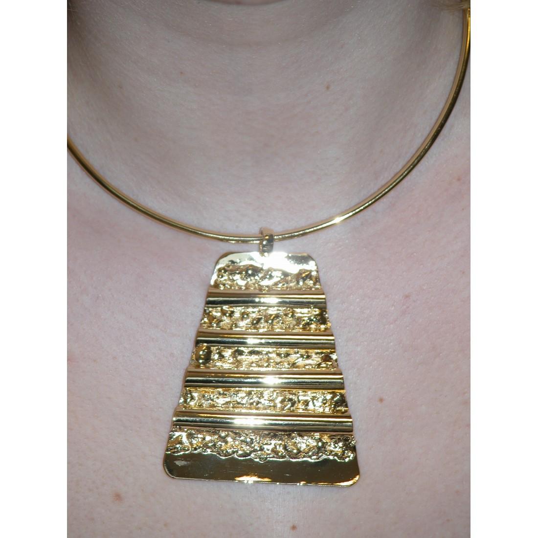 Collier trapèze, bijou de créateur français made in Saint-Étienne