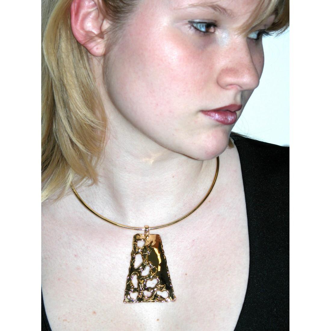 Collier en forme de trapèze-bijou artisanal made in France