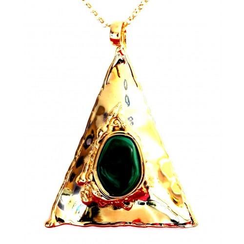 Grand triangle doré fait à la main-création unique