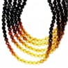 Collier en perles multicolores