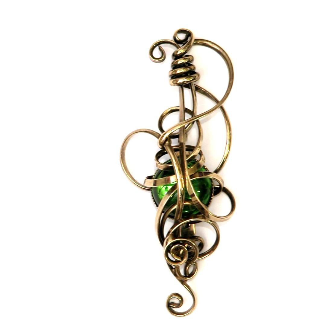 Broche, couleur bronze, bijou fabriqué en France