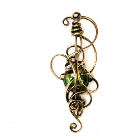Broche, couleur bronze, bijou fantaisie rétro
