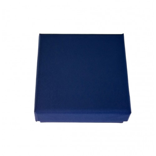 Boite bleue pour pendentif artisanal