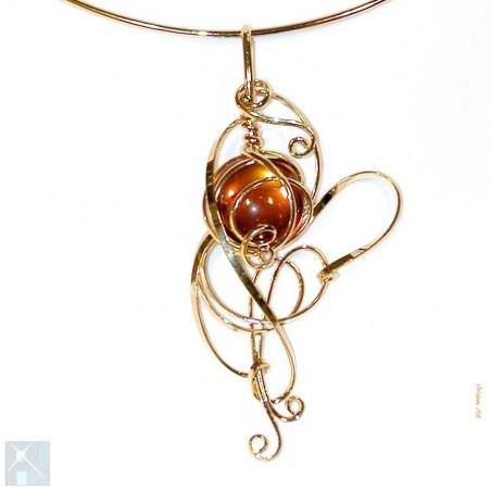 Collier de créateur français-bijou artisanal fait main.