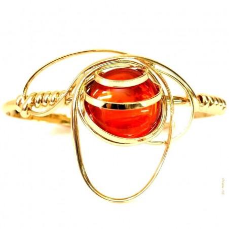 Bracelet réglable orange