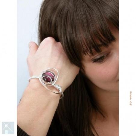 Bracelet argent violet.