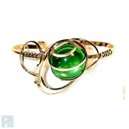 Bracelet fait main vert péridot