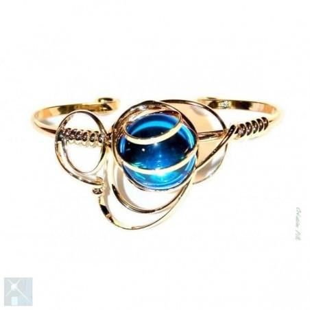 Bracelet fait main bleu clair